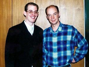 Dr. Paul Gumminger (links) und seinem Doktorvater (rechts).