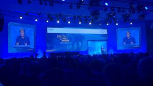 Bundeskanzlerin Angela Merkel redet auf dem Digitalgipfel 2018 in Nürnberg. (Bild: FAU/Sebastian Engel)