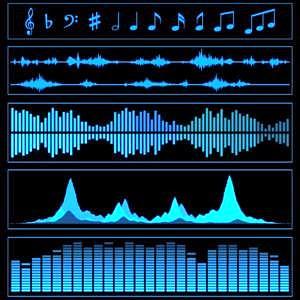 verschiedene Schallwellen