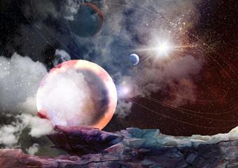 Symbolbild Weltall, Weltraum, Universum, Planeten, Kosmos