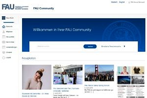 Screenshot der FAU Community