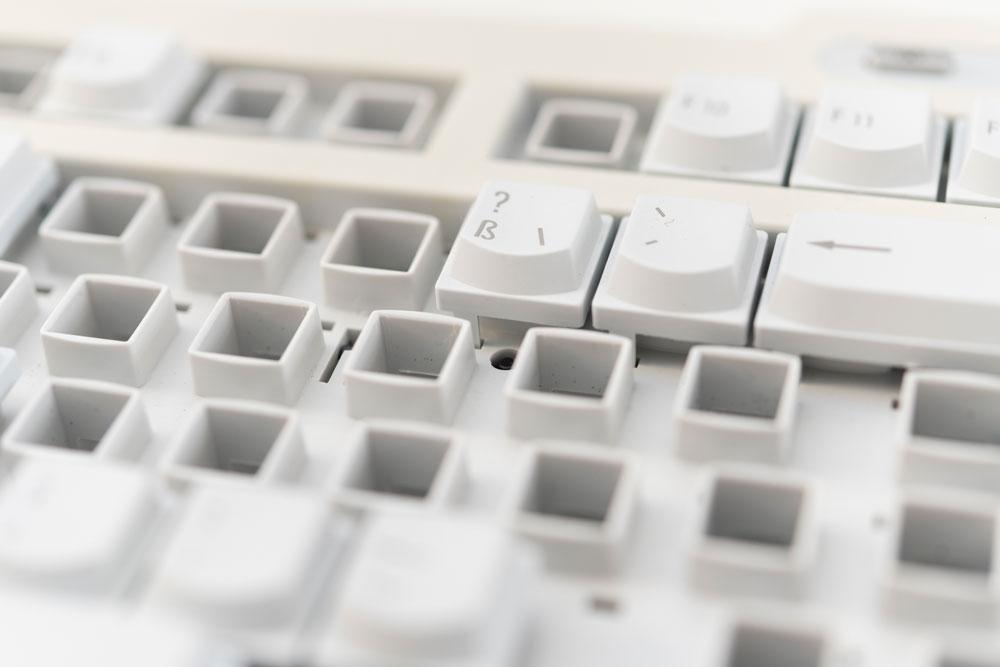 Computertastatur mit fehlenden Tasten