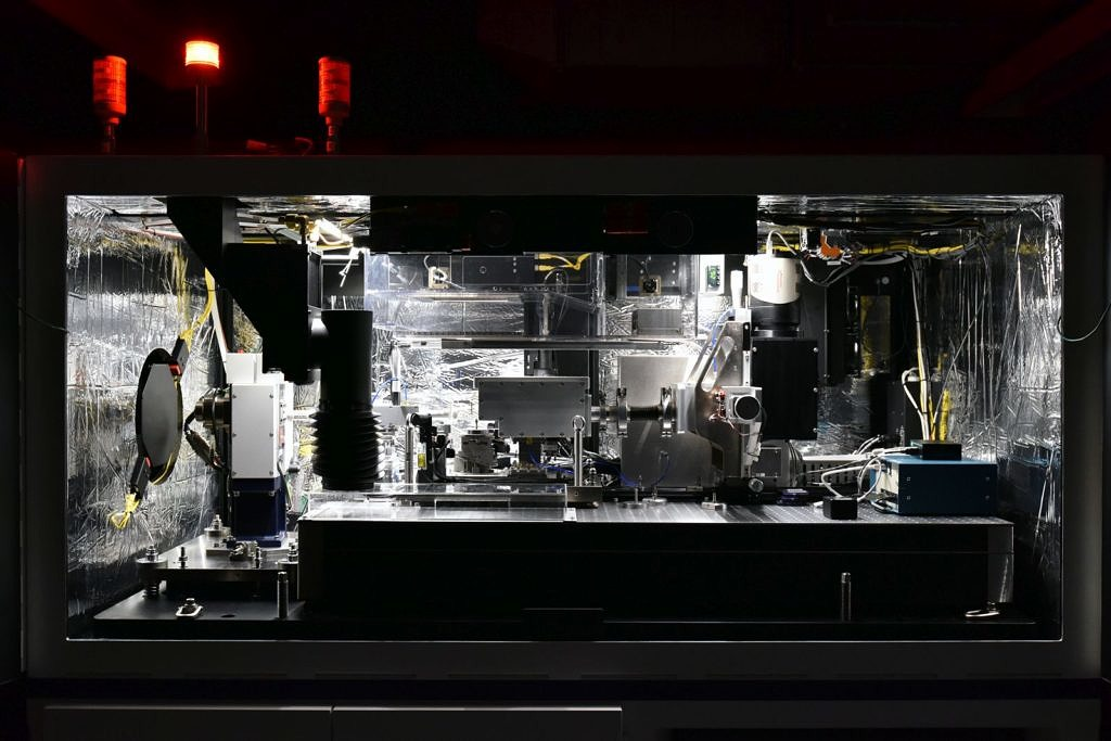 Innere des Röntgenmikroskops