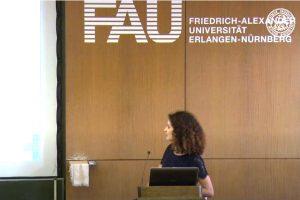 Screenshot aus dem Video von Wissenschaft im Schloss Vortrag von Prof. Zopf