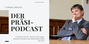 Vorschaubild Corona Update Podcast mit FAU-Präsident Joachim Hornegger