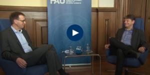 Video Gespräch FAU-Präsident mit Prof. Bogrdan zu Corona