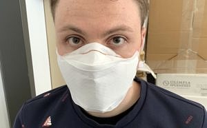Man with face mask