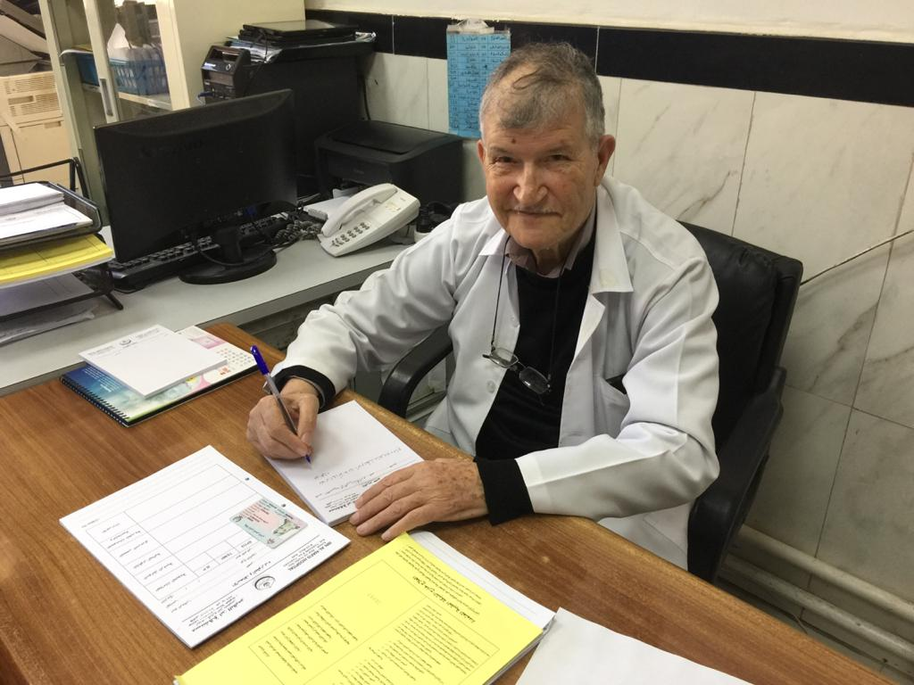 Dr. Kasim Al-Rousan is still working as a doctor in Jordan. (Picture: Aryaf Al-Rousan)