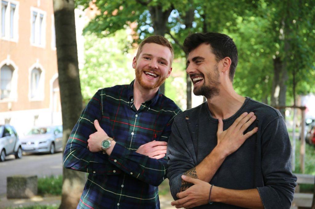 Die Studierenden Lutz und Lung.