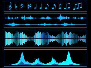 Grafische Darstellung von Musik.