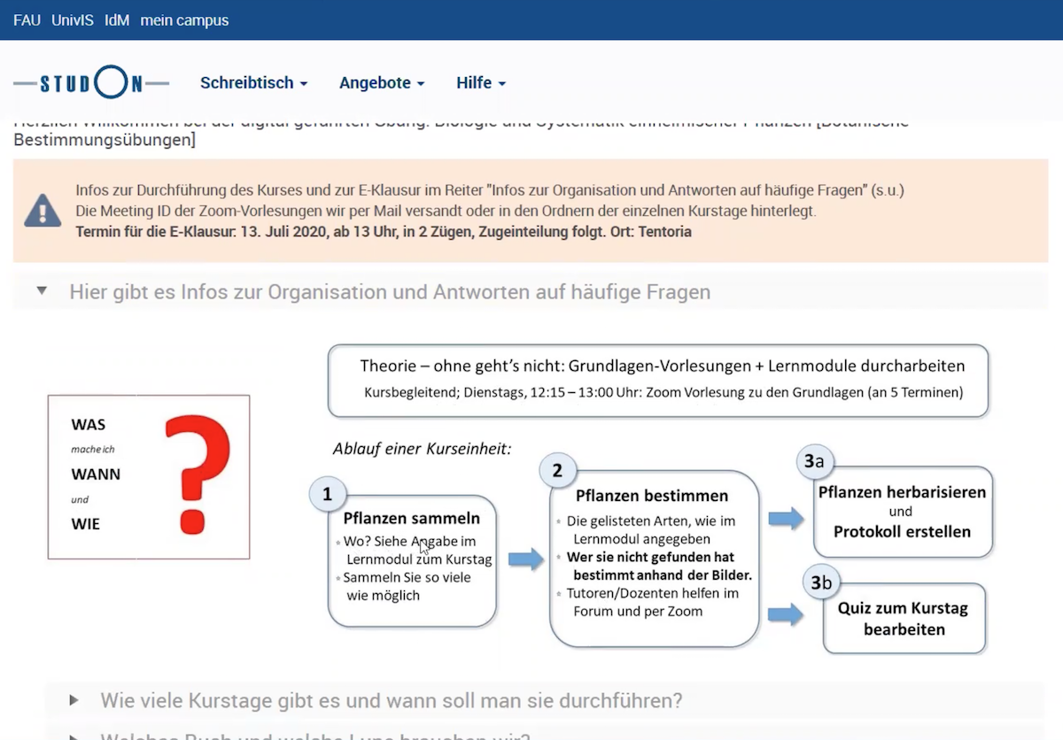 Screenshot StudOn-Kurs