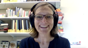 Dr. Ruth Stadler in a video conference