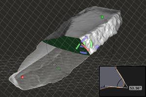3D-Modell eines Messers
