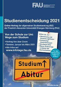 """Flyer für die Veranstaltung """"Studienentscheidung 2021"""""""