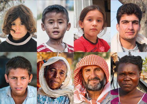Porträts Flüchtlinge