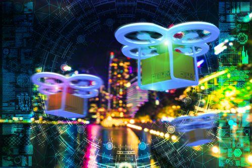 Symbolbild liefernder Drohnen