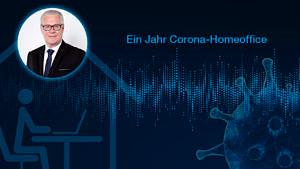 Grafik Corona und Homeoffice.