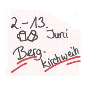 2. bis 13. Juni Bergkirchweih