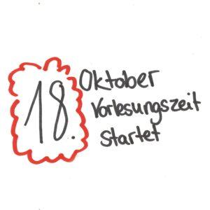 18. Oktober Vorlesungszeit startet