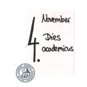 4. November Dies academicus