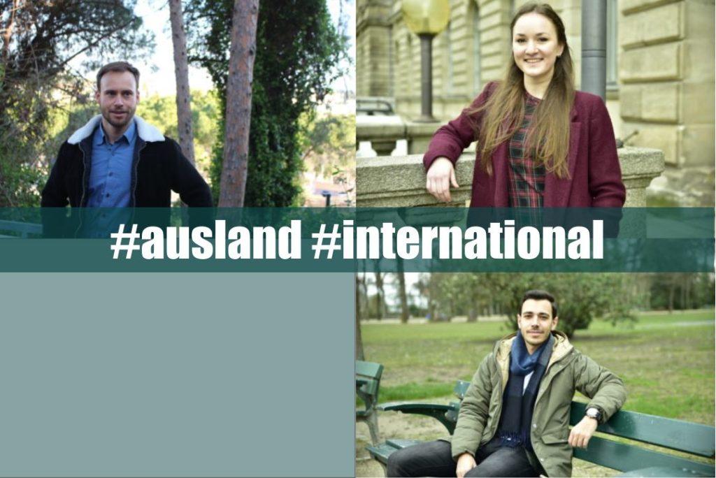 Collage aus drei international Studierenden