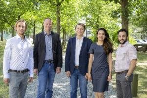 Team von Grino Water Solutions (v.li.n.re.: Julian Göbel, Sebastian Hörlin, Josef Schütz, Farzaneh Ahmadloo, Alireza Derakhshan)