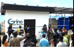Inbetriebnahme Pilotanlage in Cape Coast, Ghana im Oktober 2020