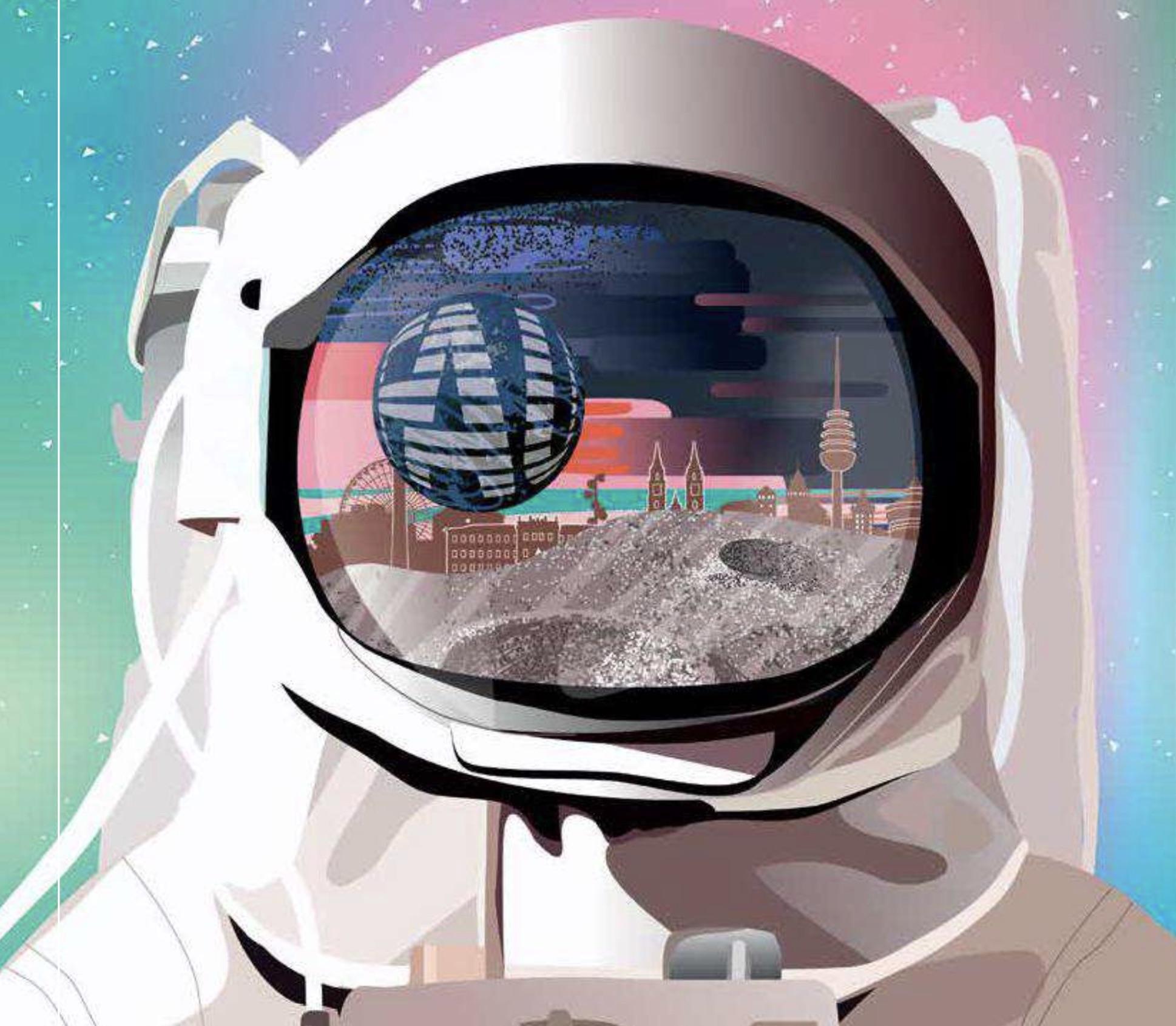 Astronaut mit Visier