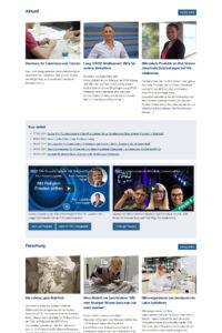 Screenshot FAU-Newsportal