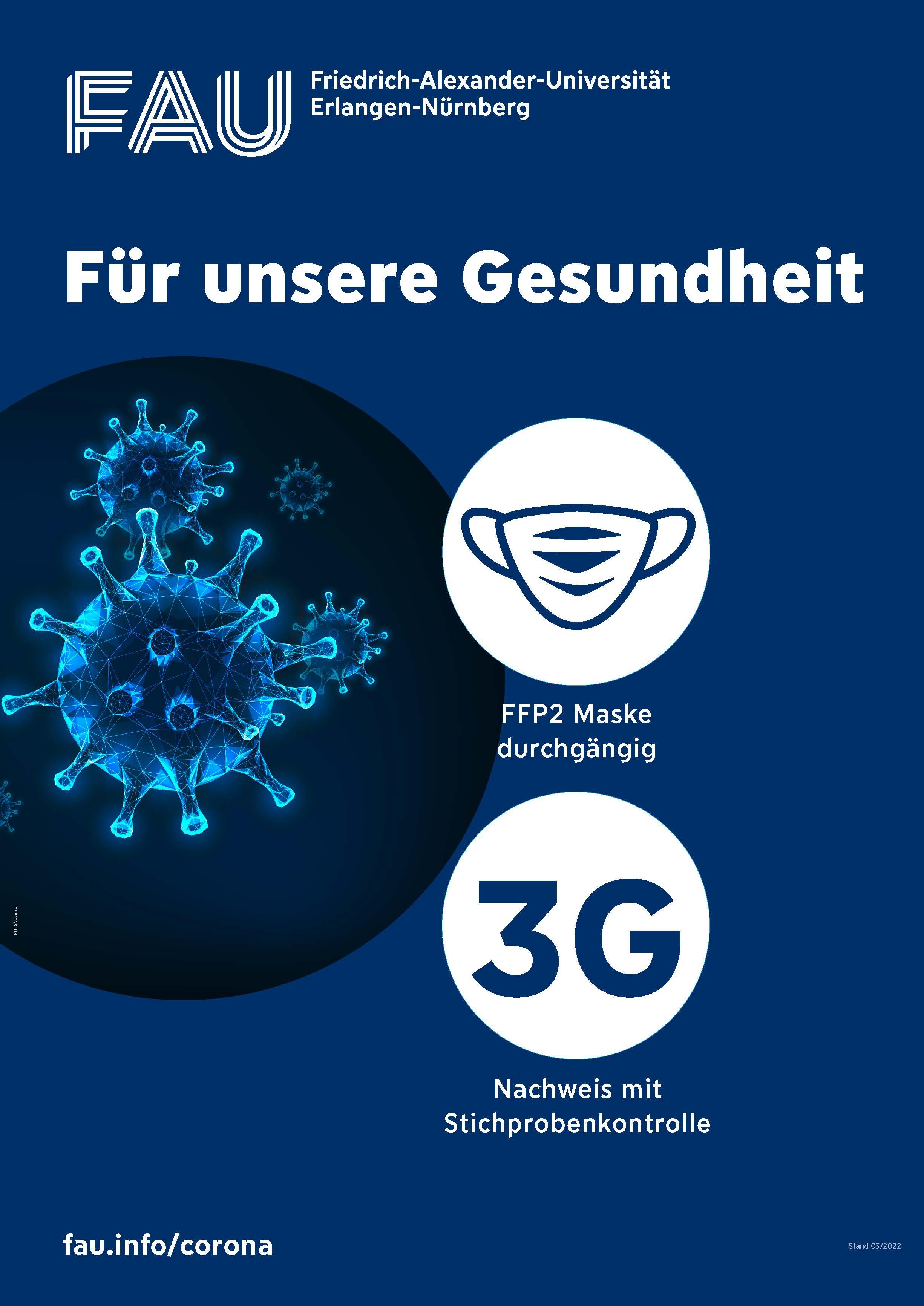 Vorschau FAU-Plakat 3G-Regelung